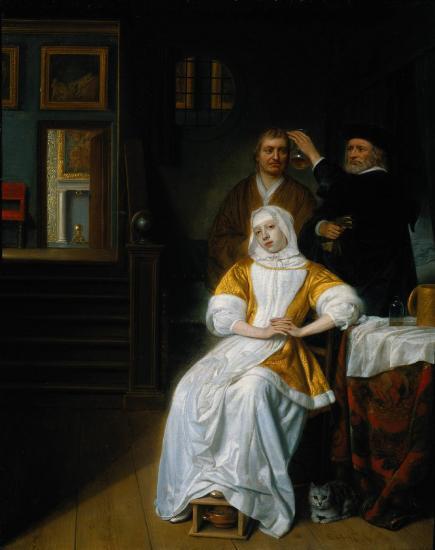 Samuel van Hoogstraten, De bleekzuchtige vrouw (ca. 1660), Rijksmuseum Amsterdam