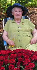 Gabriëlle Smets op haar 90e verjaardag